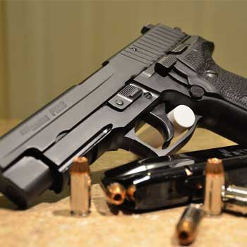 Sig P226 with ammo