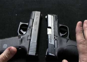 glock 19 and m&p 9c size comparison