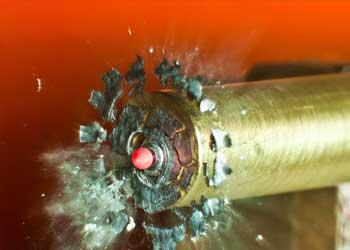 bullet exploding