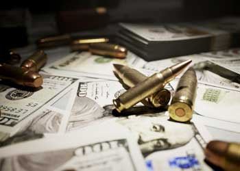 money and bullet