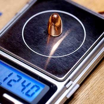 weighing bullet